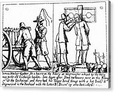 Quaker Persecution Acrylic Print by Granger