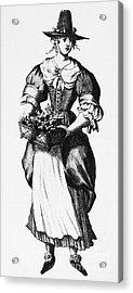 Quaker Woman, 17th Century Acrylic Print by Granger