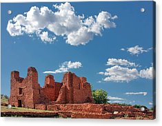 Quarai Ruins At Salinas Pueblo Missions National Monument Acrylic Print by Christine Till