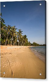 Quiet Ong Lang Beach Is Unspoiled Acrylic Print by Michael S. Lewis