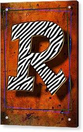 R Acrylic Print by Mauro Celotti