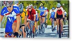 Race Warm Up Acrylic Print by Michael Lee