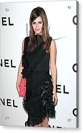 Rachel Bilson Wearing Chanel Acrylic Print by Everett
