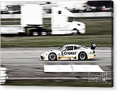 Racing By Acrylic Print by Darcy Michaelchuk