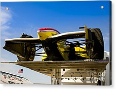 Racing Car Nose Acrylic Print by Darcy Michaelchuk