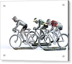 Racing Cyclist Acrylic Print by Bernard Jaubert