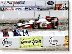 Racing Acrylic Print by Donna Blackhall
