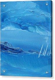 Racing Sailboats Acrylic Print by Danita Cole