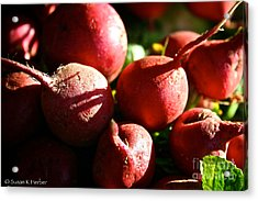 Radishes At Sunrise Acrylic Print by Susan Herber
