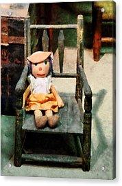 Rag Doll In Chair Acrylic Print by Susan Savad