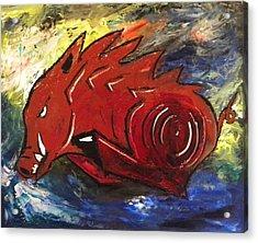 Ragin' Red Acrylic Print by David McGhee