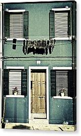 rags in Venice Acrylic Print by Joana Kruse
