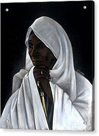 Rahab Acrylic Print by L Cooper