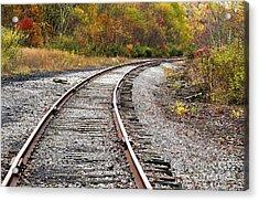 Railroad Fall Color Acrylic Print by Thomas R Fletcher