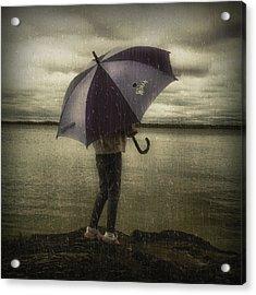 Rain Day 2 Acrylic Print by Heather  Rivet