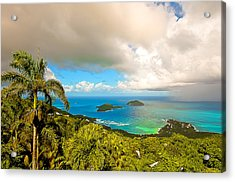Rain In The Tropics Acrylic Print by Keith Allen