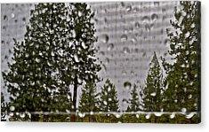 Rain On My Windowpane Acrylic Print by Kirsten Giving