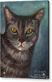 Rain The Cat Acrylic Print by Kostas Koutsoukanidis