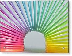 Rainbow 2 Acrylic Print by Steve Purnell