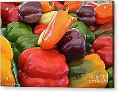 Rainbow Bells Acrylic Print by Susan Herber