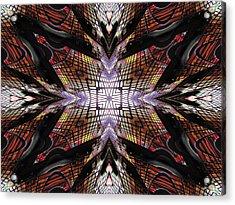 Rainbow Computer Acrylic Print by Michele Caporaso
