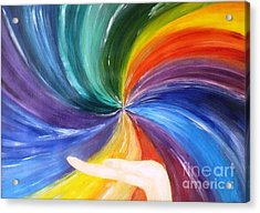 Rainbow For My Son Acrylic Print by AmaS Art