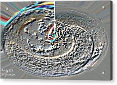 Rainbow Galaxy Acrylic Print by Augusta Stylianou