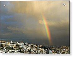 Rainbow Over Granada Yesterday Acrylic Print by Guido Montanes Castillo