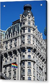 Rainbows And Architecture Acrylic Print by Rob Hans