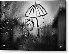 Raining Again Acrylic Print by Sunkies Fang