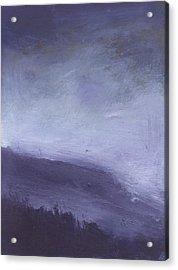 Rainstorm Over Stenbury Down Acrylic Print by Alan Daysh