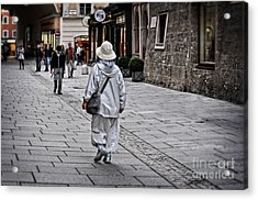 Rainwear In Salzburg Acrylic Print by Mary Machare