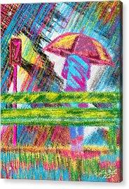 Rainy Day Acrylic Print by Pierre Louis