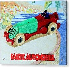 Rallye Automobile Acrylic Print by Glenda Zuckerman