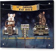 Rat Race Darker Tones Acrylic Print by Leah Saulnier The Painting Maniac