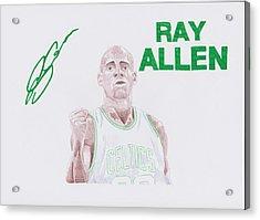 Ray Allen Acrylic Print by Toni Jaso