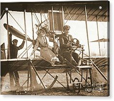 Ready For Takeoff 1912 Sepia Acrylic Print by Padre Art