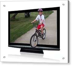 Reality Television Acrylic Print by Joanne Kocwin