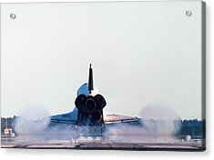Rear View Of The Landing Of The Space Shuttle Acrylic Print by Stockbyte