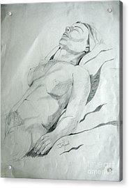 Reclining Nude Acrylic Print by Julie Coughlin