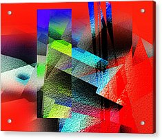 Red Abstract 1 Acrylic Print by Anil Nene