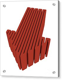 Red Arrow Acrylic Print by Igor Kislev
