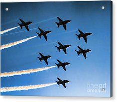 Red Arrows Acrylic Print by Graham Taylor