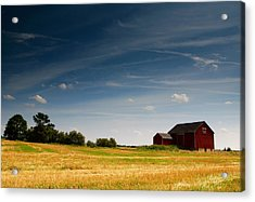 Red Barn Acrylic Print by Cale Best