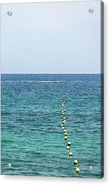 Red Buoy Acrylic Print by Daniel Kulinski