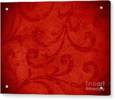 Red Crispy Oriental Style Decor For Fine Design. Acrylic Print by Marta Mirecka