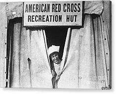 Red Cross Nurse, 1918 Acrylic Print by Photo Researchers