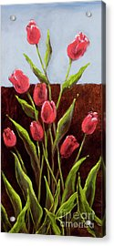 Red Delight-tulips Acrylic Print by Vic  Mastis