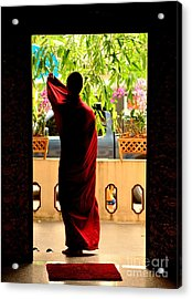 Red Divine Acrylic Print by Dean Harte