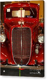 Red Ford Acrylic Print by Susanne Van Hulst